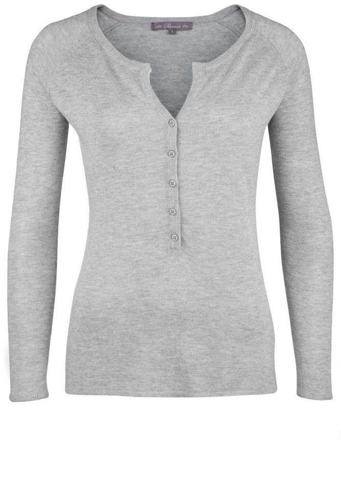 Blaumax Strickpullover »GRANADA« in grey mele