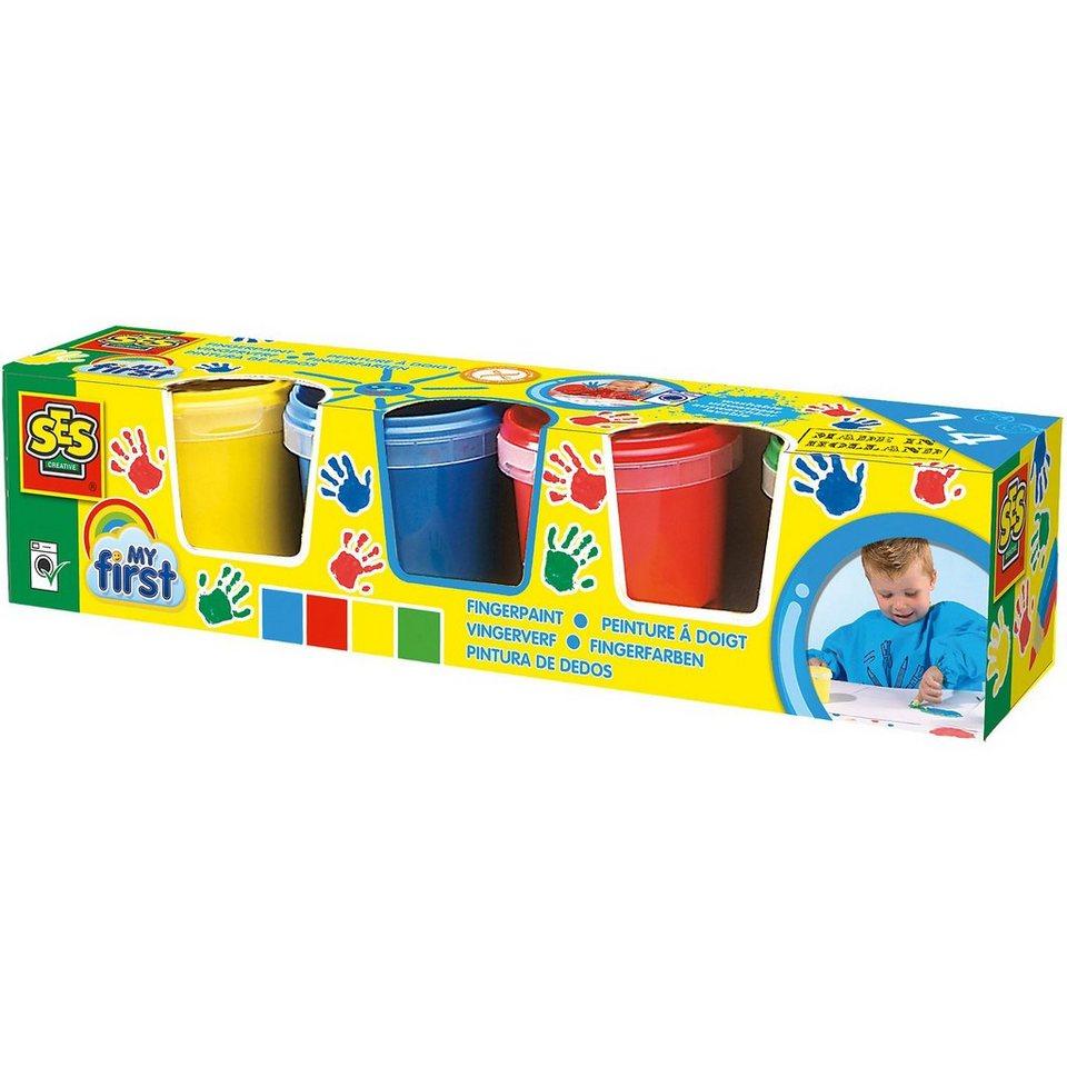 SES Creative 14413 My First Fingerfarben, 4 x 150 ml
