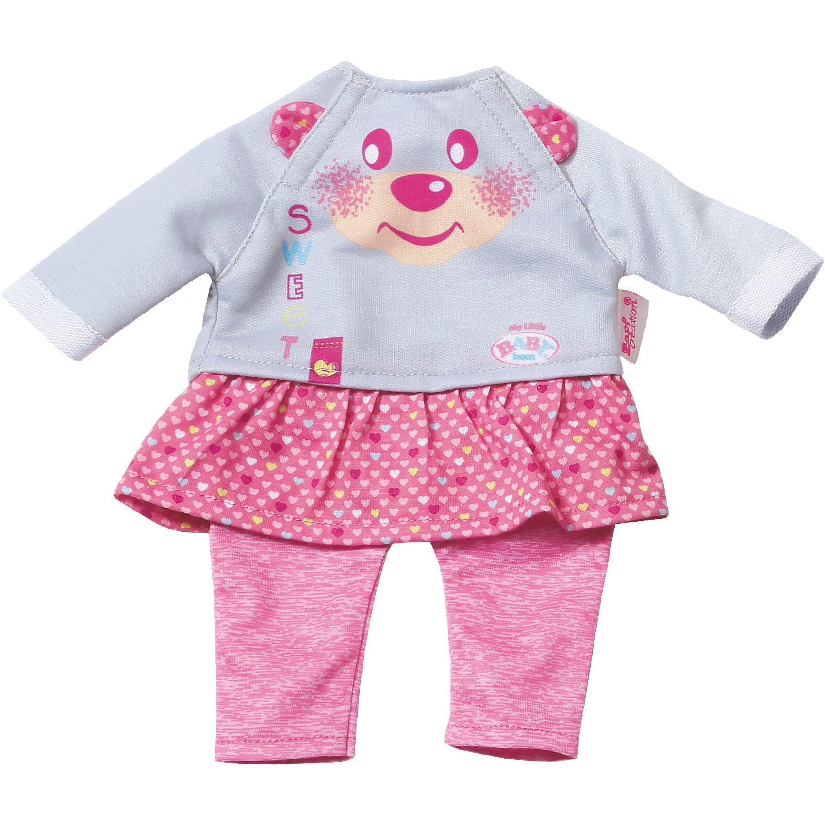 Zapf Creation My Little BABY born® Kleidung Shirt mit Hosenrock