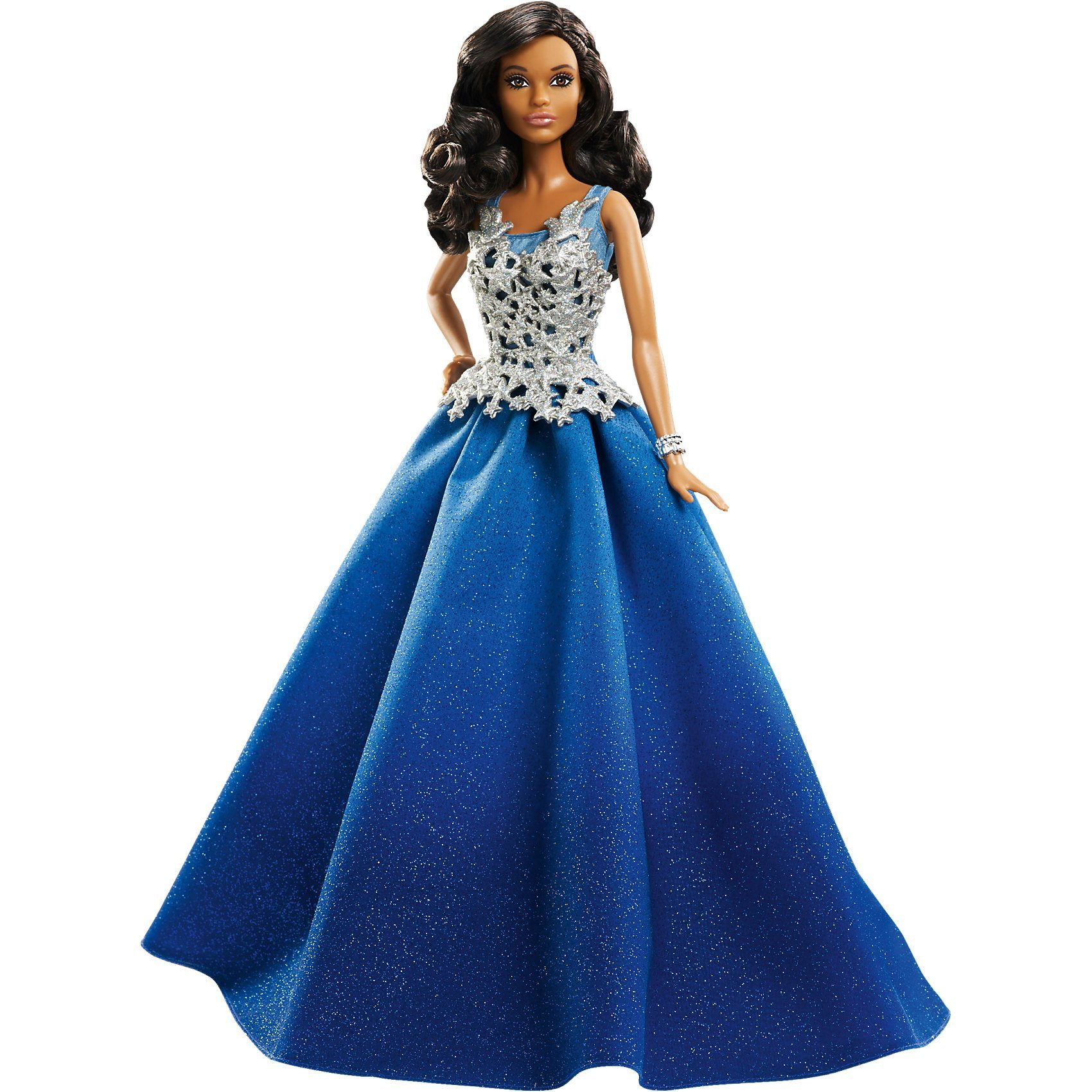 Mattel 2016 Holiday Barbie im blauen Kleid