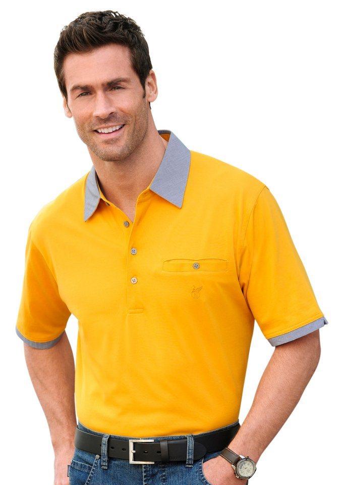 Hajo Kurzarm-Shirt in 2-in-1-Optik in curry