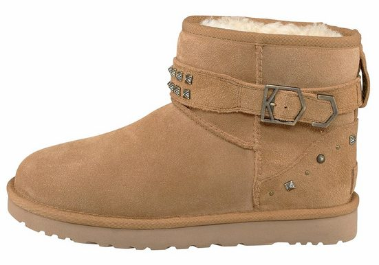 Ugg Neva Deco Studs Winter Boots, With Leather Straps And Swarovski Elements
