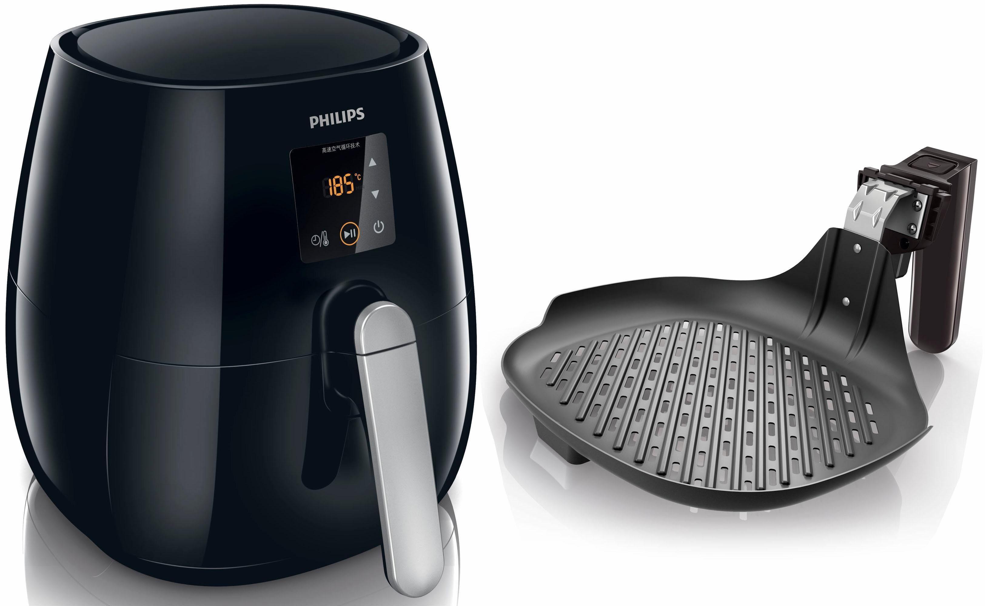 Philips Heissluftfritteuse HD9236/20 Airfryer Viva Collection mit Gratis Grillpfanne, 1400 W