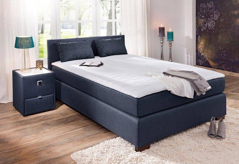 home affaire boxspringbett inkl topper und kissen jenny. Black Bedroom Furniture Sets. Home Design Ideas