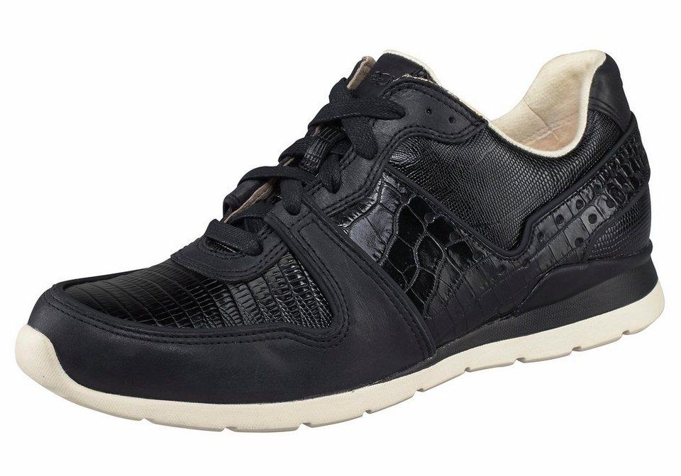 UGG »Deaven Croco« Sneaker im tollen Ledermix in Croco-Optik in schwarz