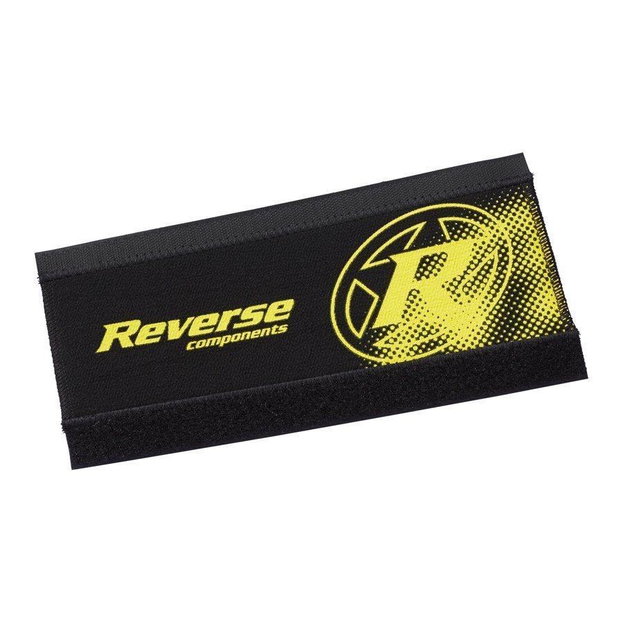Reverse Fahrradrahmen »Neopren Kettenstrebenschutz schwarz/gelb«