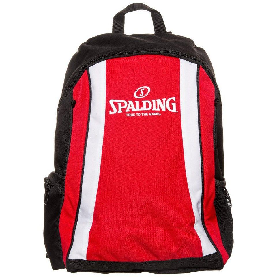 SPALDING Backpack Rucksack Kinder in rot / schwarz / weiß