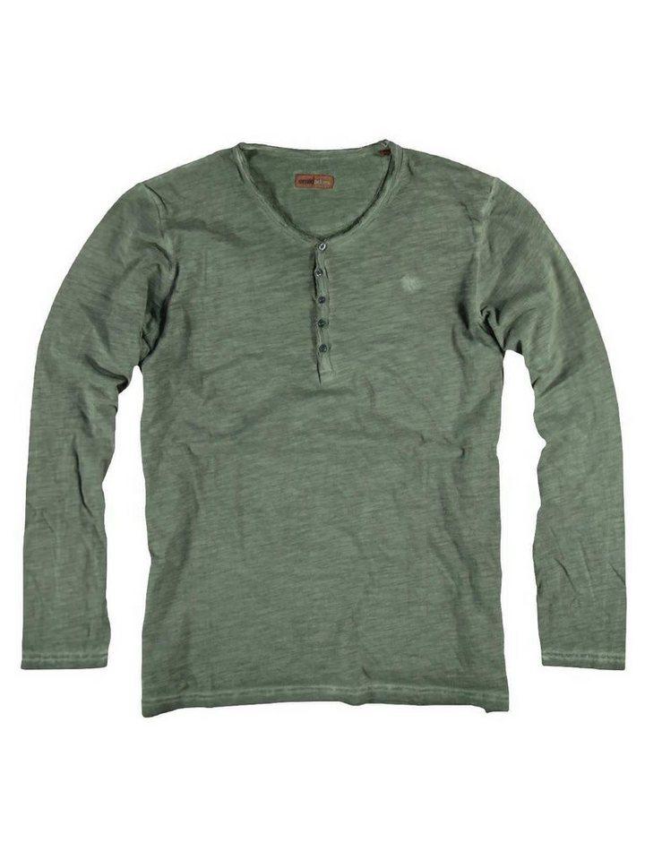 emilio adani Henley Shirt in Signalgrün