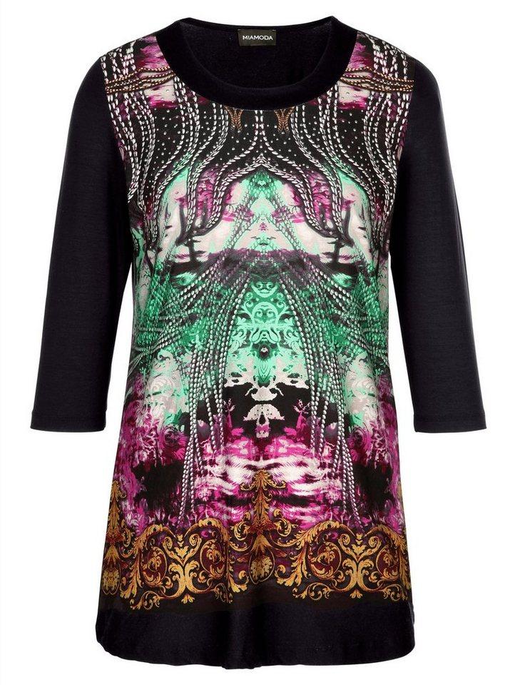 MIAMODA Longshirt in schwarz/multicolour