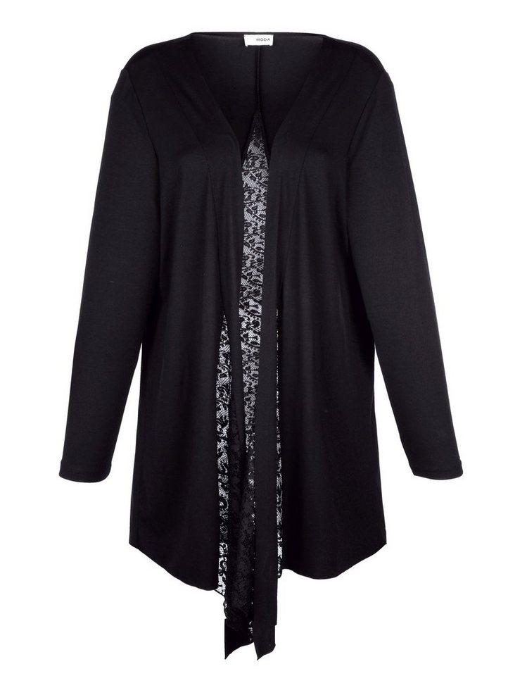 MIAMODA Jacke in Shirtqualität in Schwarz