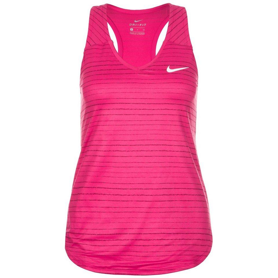 NIKE Dry Tennistank Damen in pink / anthrazit