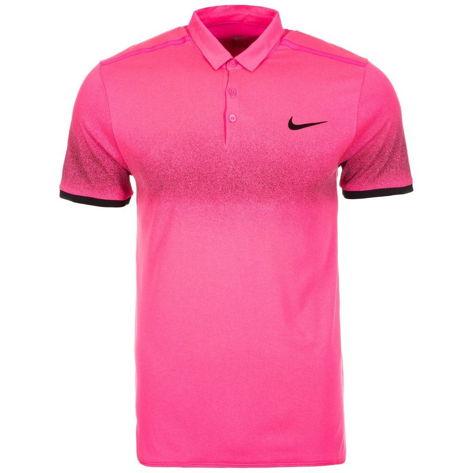 NIKE Advantage Roger Federer Tennispolo Herren in pink / schwarz