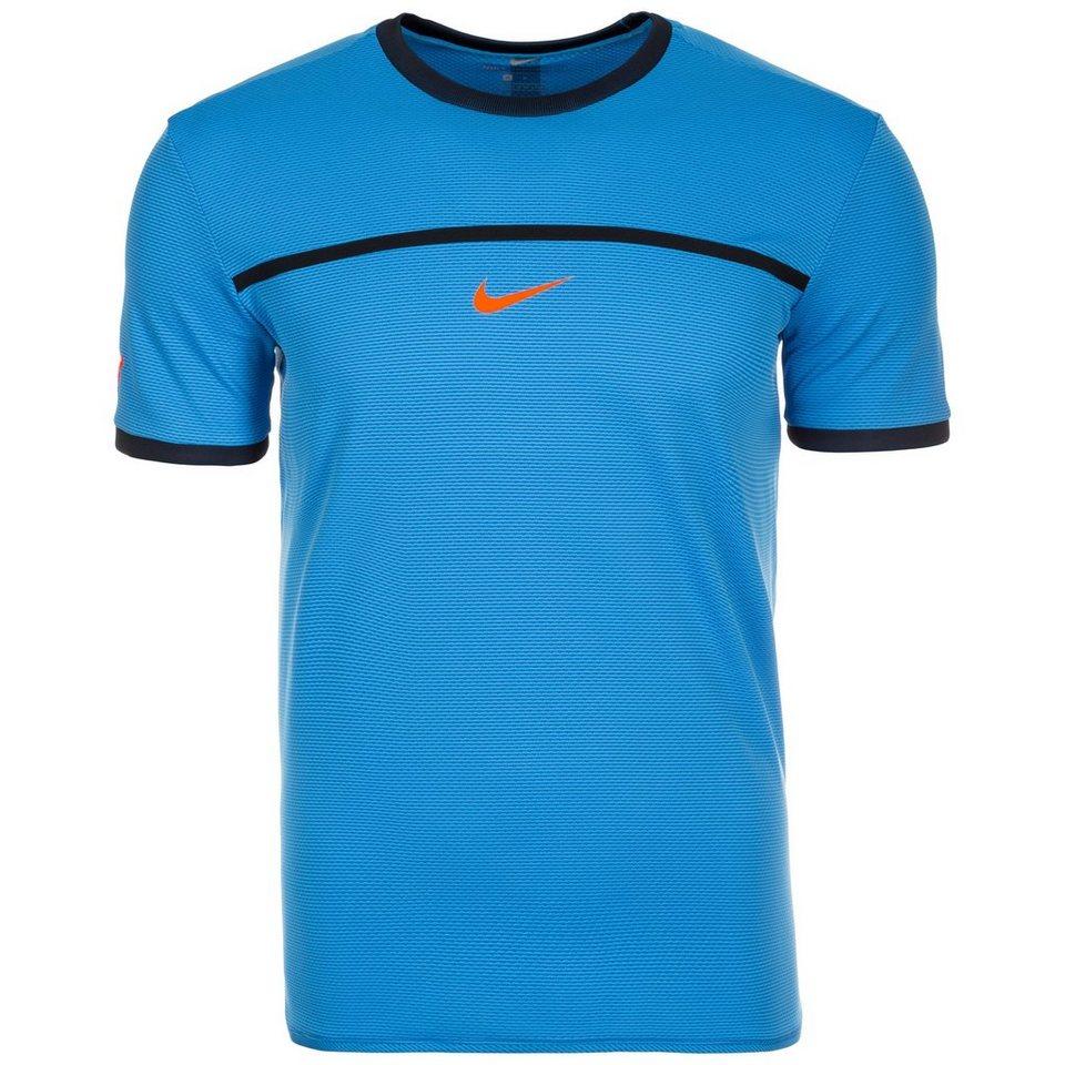 NIKE Rafa Challenger Tennisshirt Herren in blau / orange