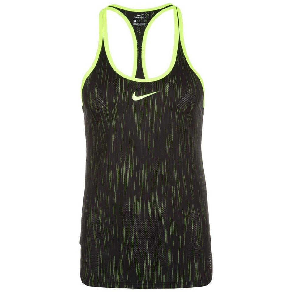NIKE Dry Premier Tennistank Damen in schwarz / gelb