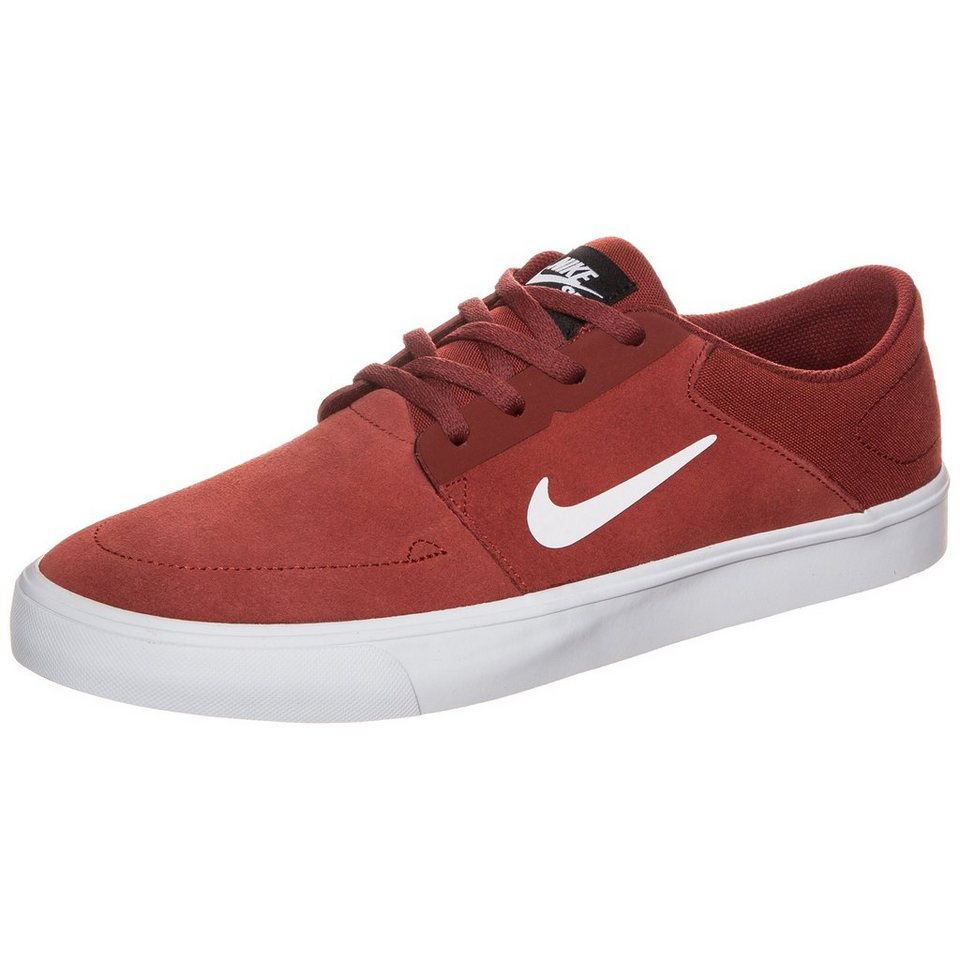 NIKE Portmore Sneaker Herrren in rot / weiß