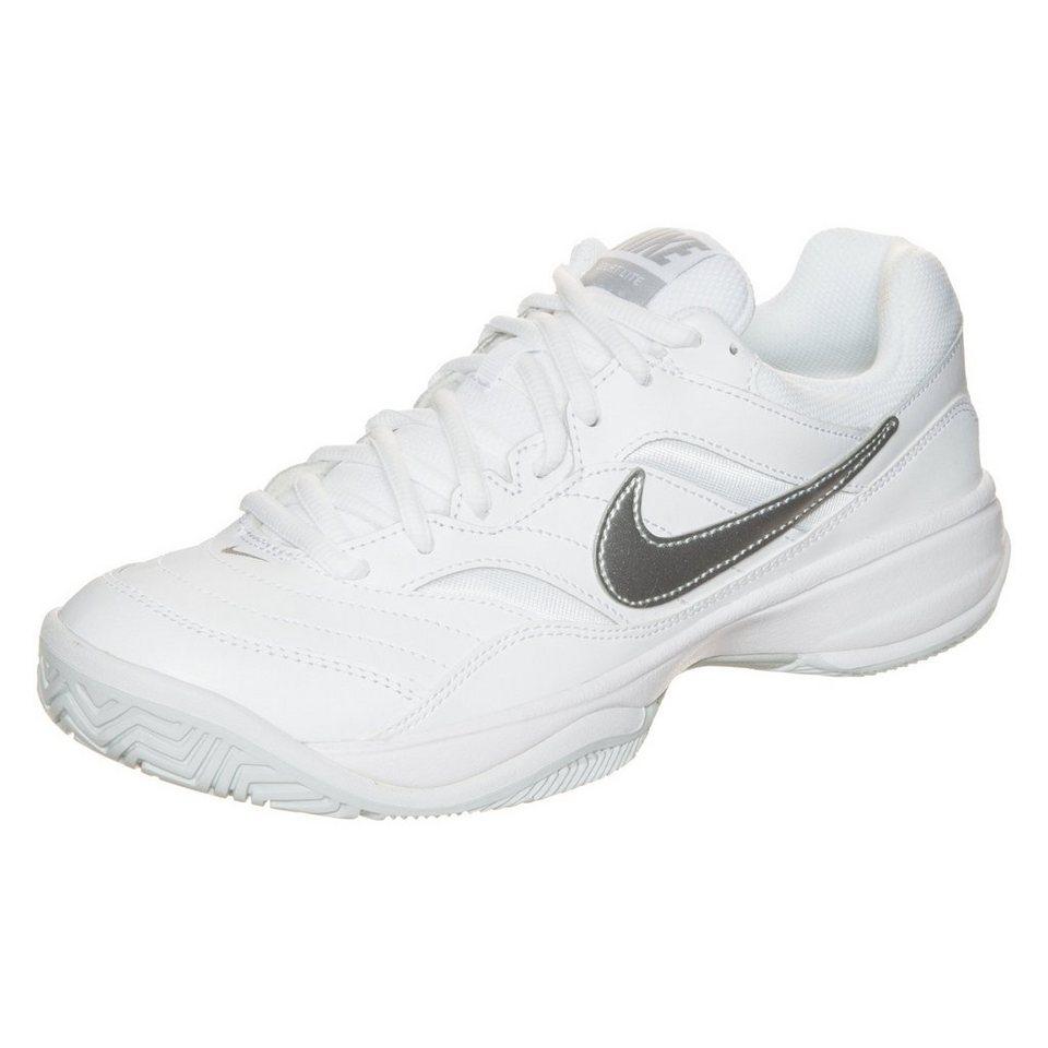 NIKE Court Lite Tennisschuh Damen in weiß / silber
