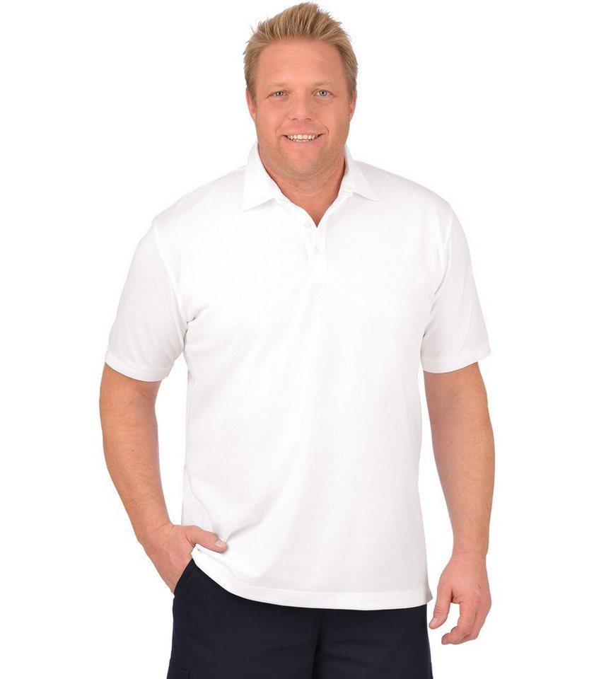 TRIGEMA Business-Polo-Shirt in weiss