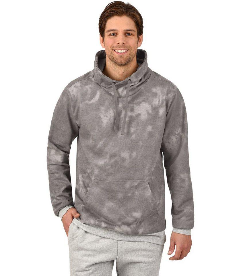 TRIGEMA Sweatshirt Batik-Muster in grau-melange