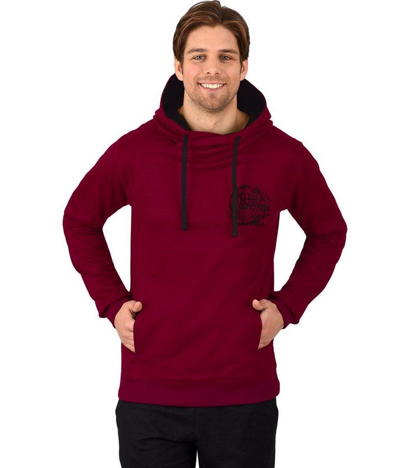 TRIGEMA Kapuzen-Sweatshirt in chianti-melange