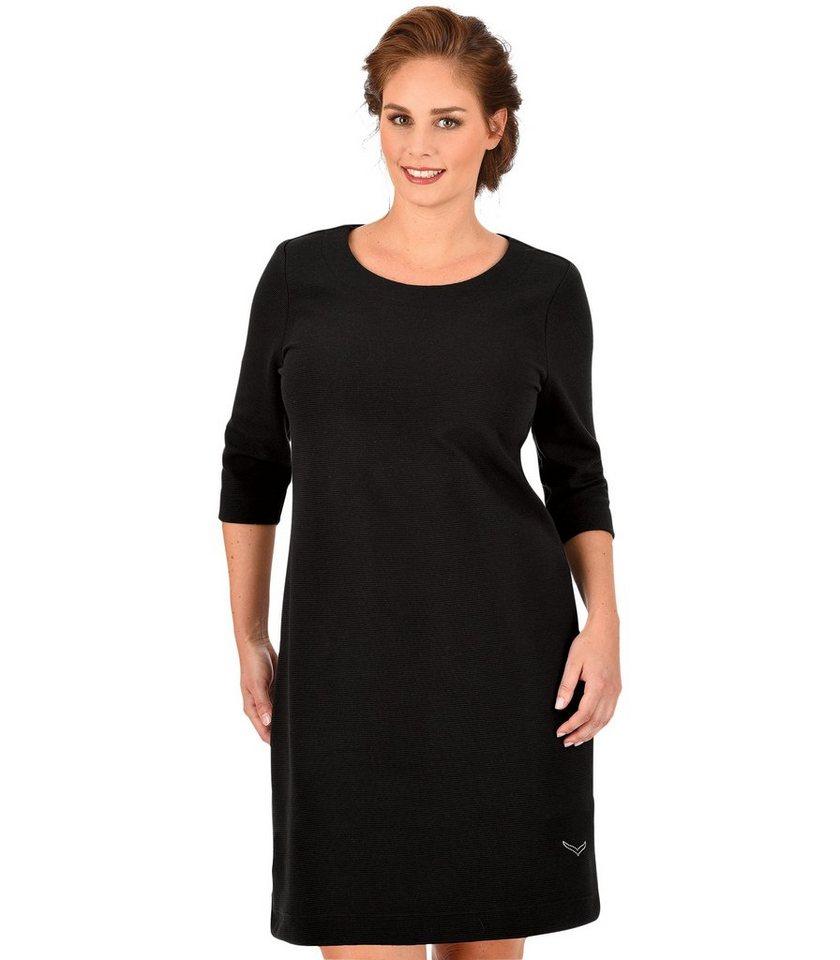 TRIGEMA Kleid mit Swarovski® Kristallen in schwarz