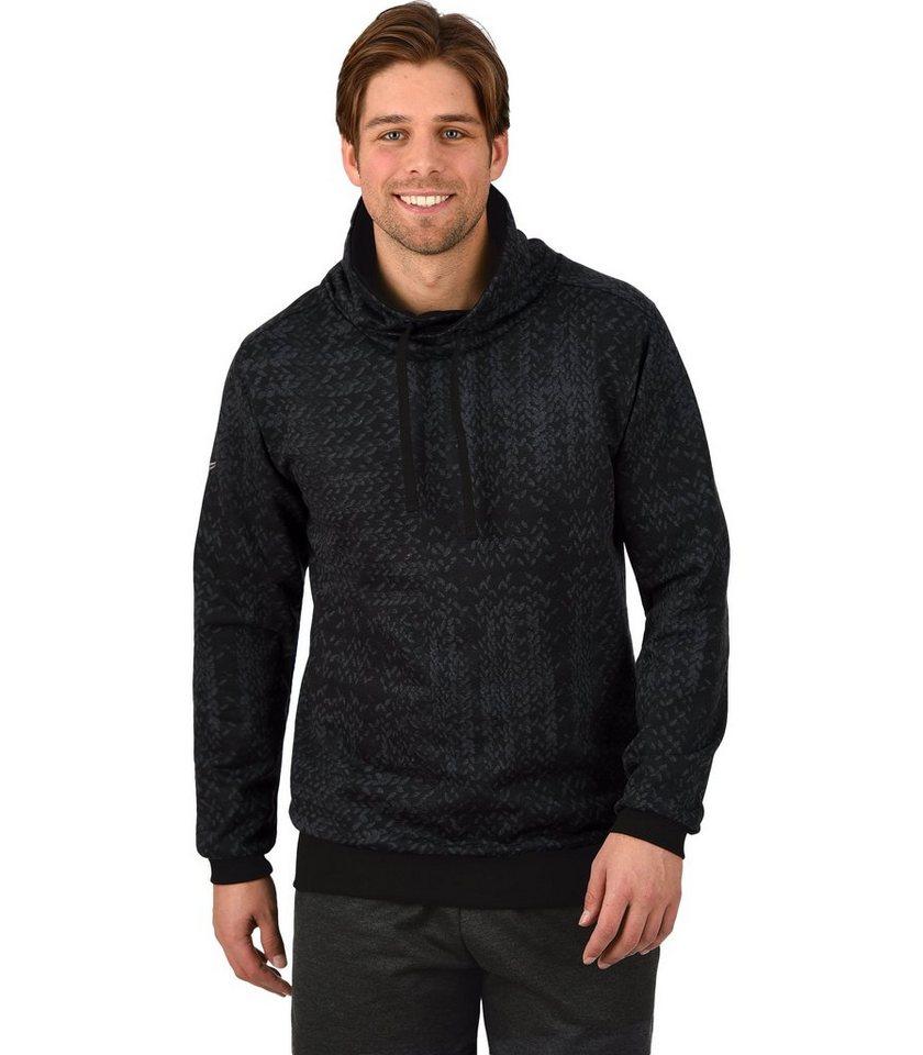 TRIGEMA Sweatshirt mit Stehkragen in anthrazit-melange
