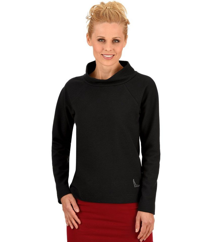 TRIGEMA Sweater mit Swarovski® Kristallen in schwarz