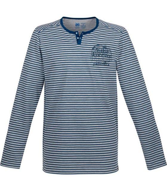 trigema -  Langarm-Shirt mit Knopfleiste