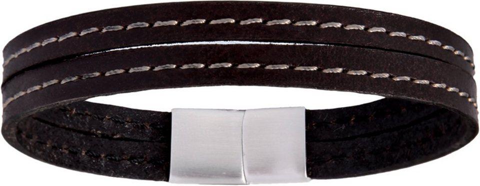 XENOX Armband »X2561« in braun-silberfarben