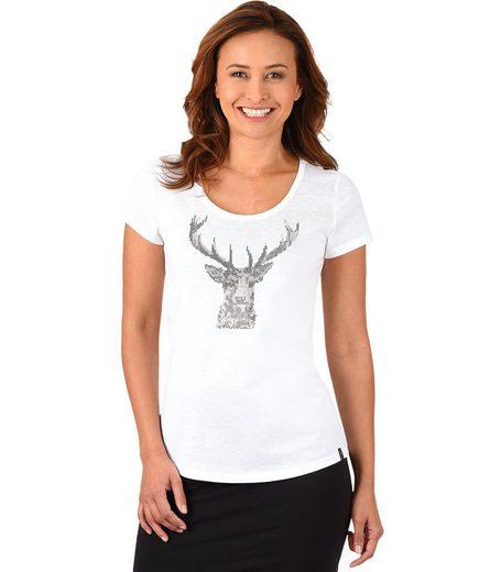 T-shirt Trigema Paillettes-cerfs