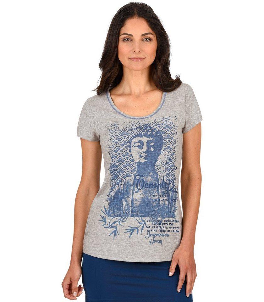 TRIGEMA T-Shirt Buddha in grau-melange