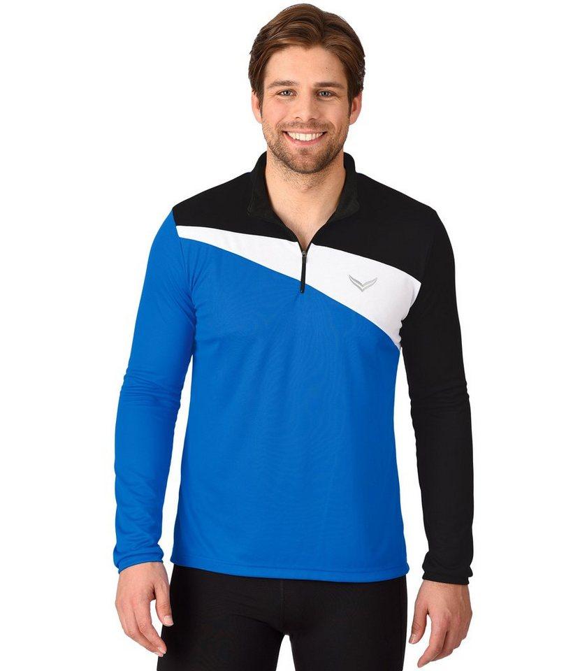 TRIGEMA COOLMAX Sport-Shirt in electric-blue