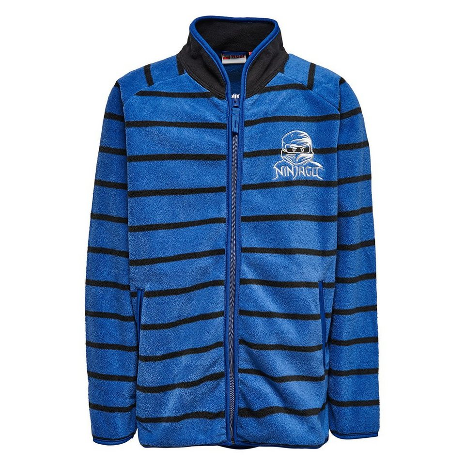"LEGO Wear Ninjago Fleece-Cardigan ""Stripes"" Skeet langarm Fleece Jacke in dunkelblau"