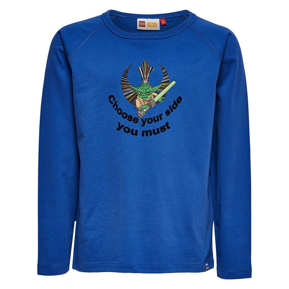 "LEGO Wear STAR WARS(TM) Langarm-T-Shirt Tony ""Yoda"" langarm Shirt Glow in in dunkelblau"