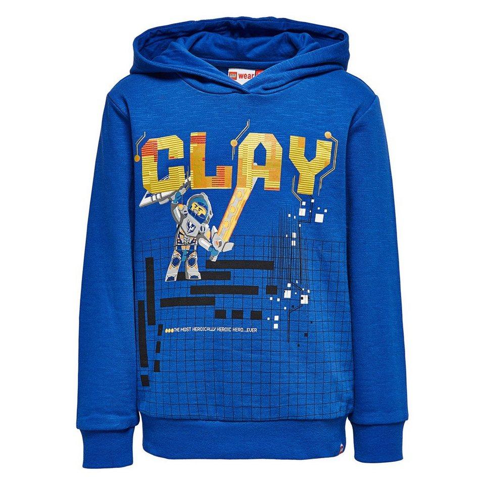 """LEGO Wear Ninjago Kapuzensweatshirt """"Clay"""" Skeet langarm Shirt in dunkelblau"""