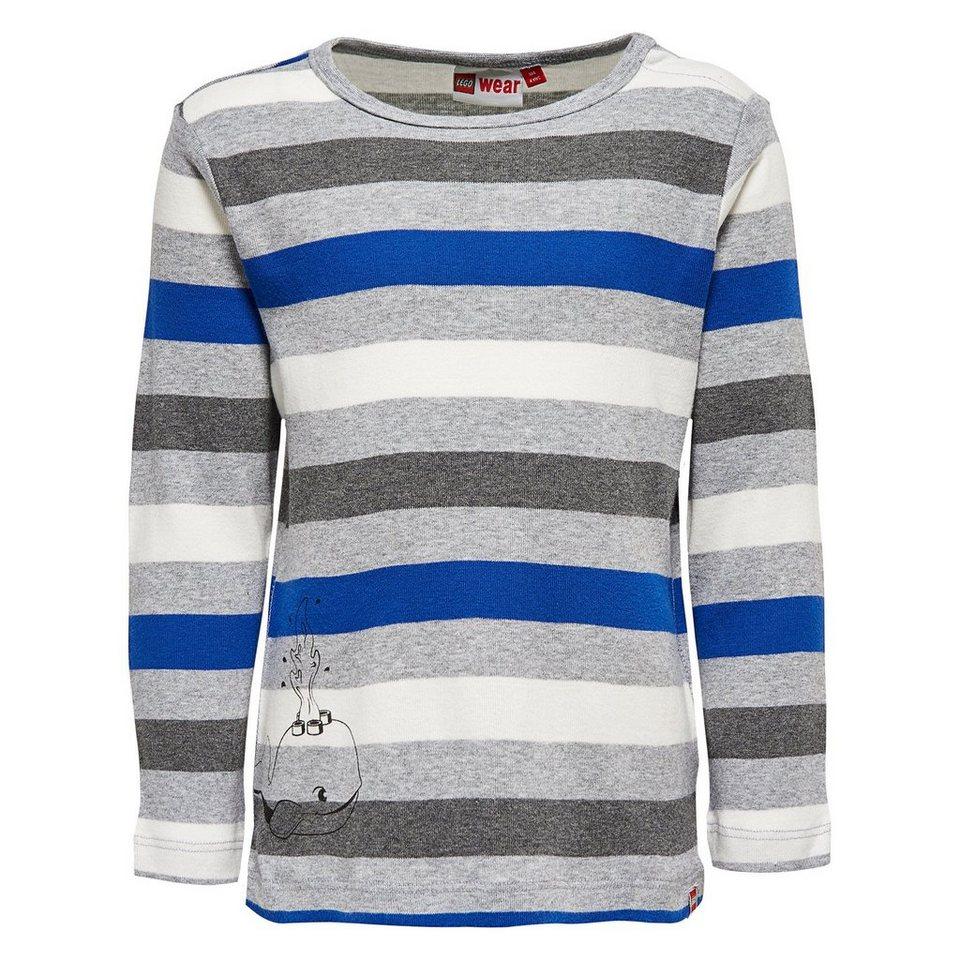 """LEGO Wear Duplo Langarm-T-Shirt """"Stripes"""" Shirt Trey in dunkelblau"""