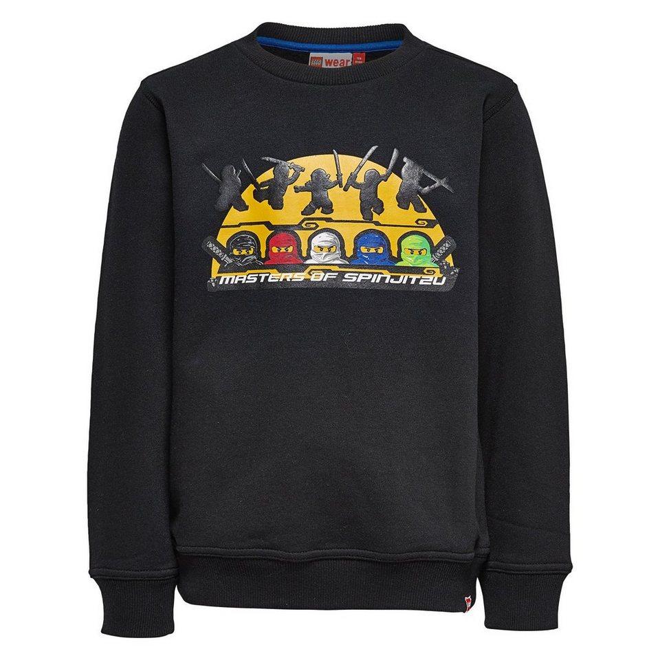 """LEGO Wear Ninjago Sweatshirt """"Spinjitzu"""" Skeet langarm Shirt in schwarz"""