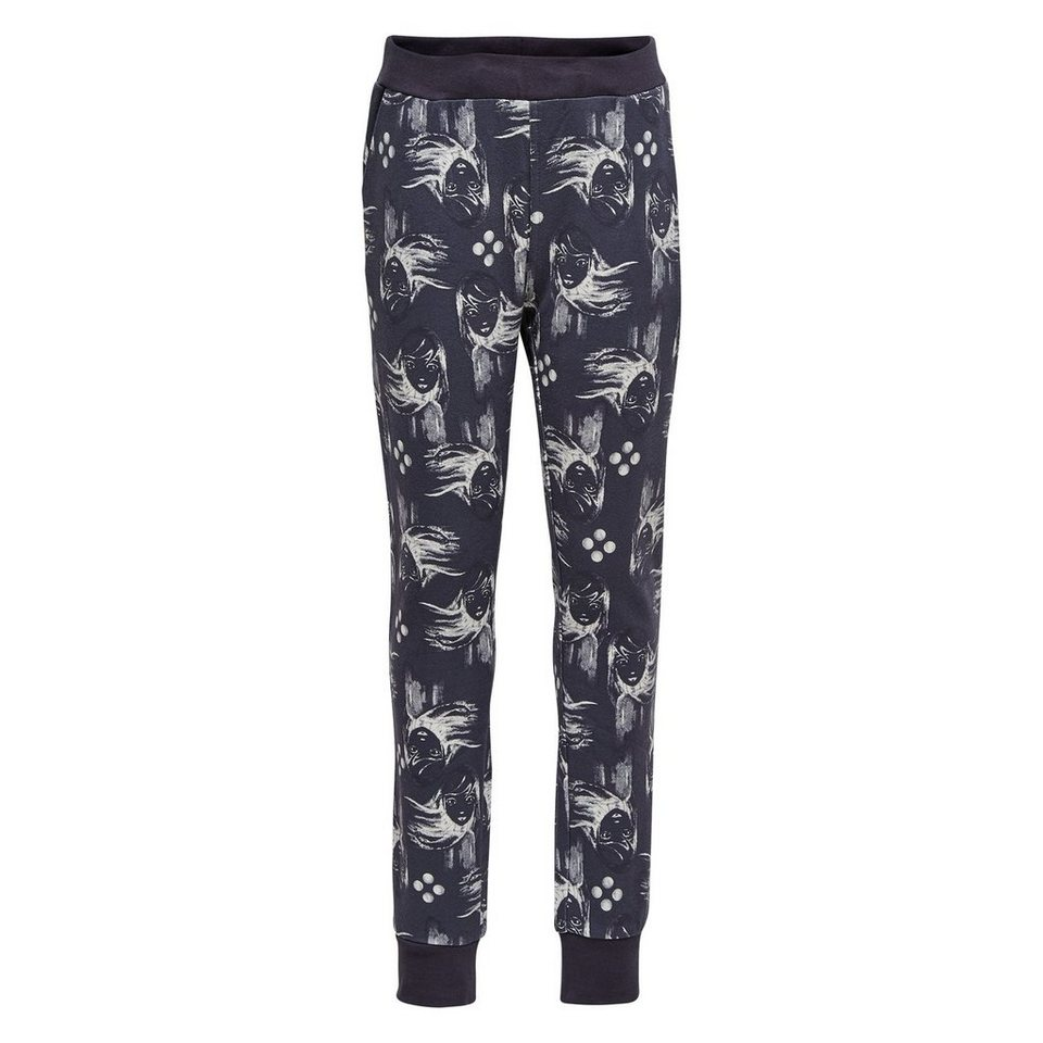 "LEGO Wear Friends Sweatpants ""All Over"" Porta Hose in dunkelgrau"