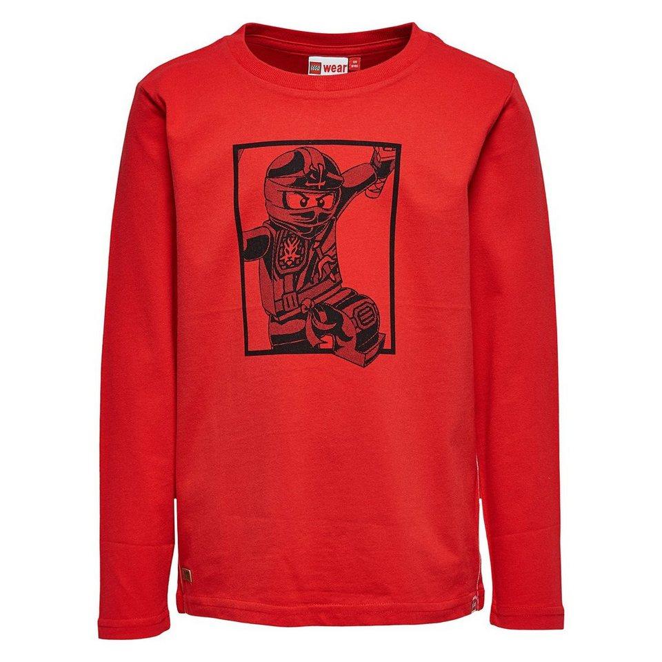 "LEGO Wear Ninjago Langarm-T-Shirt Tony ""Ninjago"" langarm Shirt in rot"