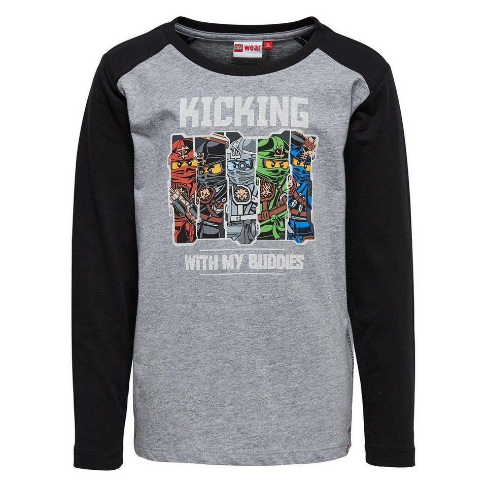 """LEGO Wear Ninjago Langarm-T-Shirt Tony """"Kicking"""" langarm Shirt in schwarz"""