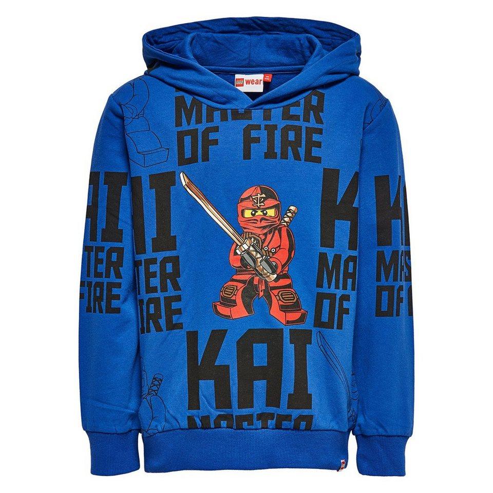 "LEGO Wear Ninjago Kapuzensweatshirt ""Kay - Master of Fire"" Skeet langarm S in dunkelblau"