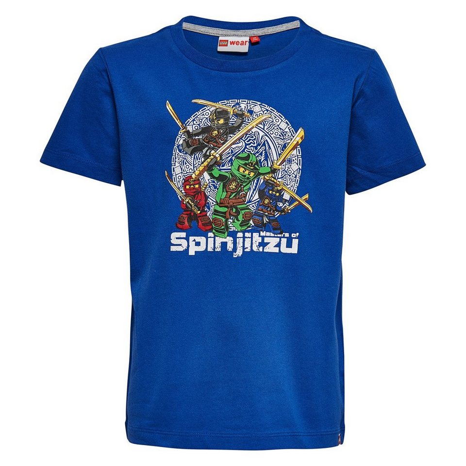 "LEGO Wear Ninjago T-Shirt Tony ""Spinjitzu"" kurzarm Shirt in dunkelblau"