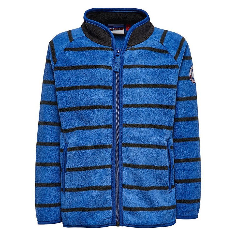 "LEGO Wear Duplo Fleece-Cardigan Shay Fleecejacke ""Streifen"" langarm Jacke in dunkelblau"