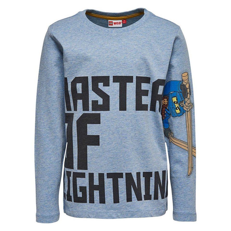 """LEGO Wear Ninjago Langarm-T-Shirt Tony """"Master of Lightning"""" langarm Shirt in blau"""