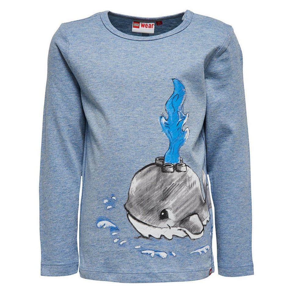 """LEGO Wear Duplo Langarm-T-Shirt """"Whale"""" Shirt Trey in blau"""