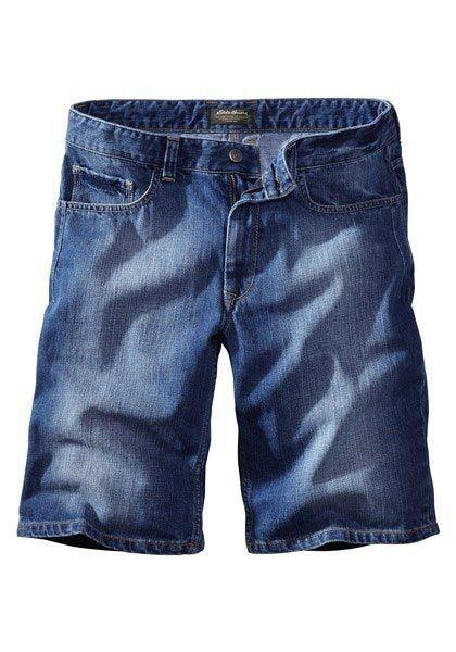Eddie Bauer Bermuda-Jeans in Washed Denim
