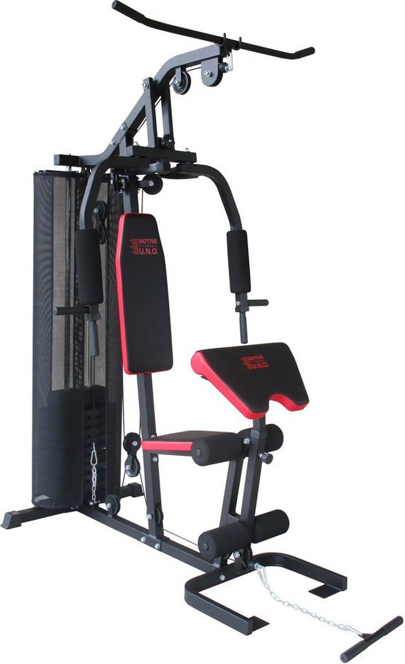MOTIVE FITNESS by U.N.O. Kraftstation, »Multi-Gym Smart« in schwarz-rot