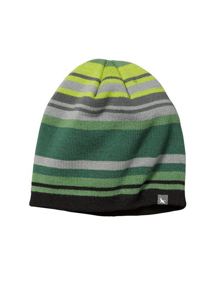 Eddie Bauer Verwaschene Beanie-Mütze mit Streifen in Grün gestreift