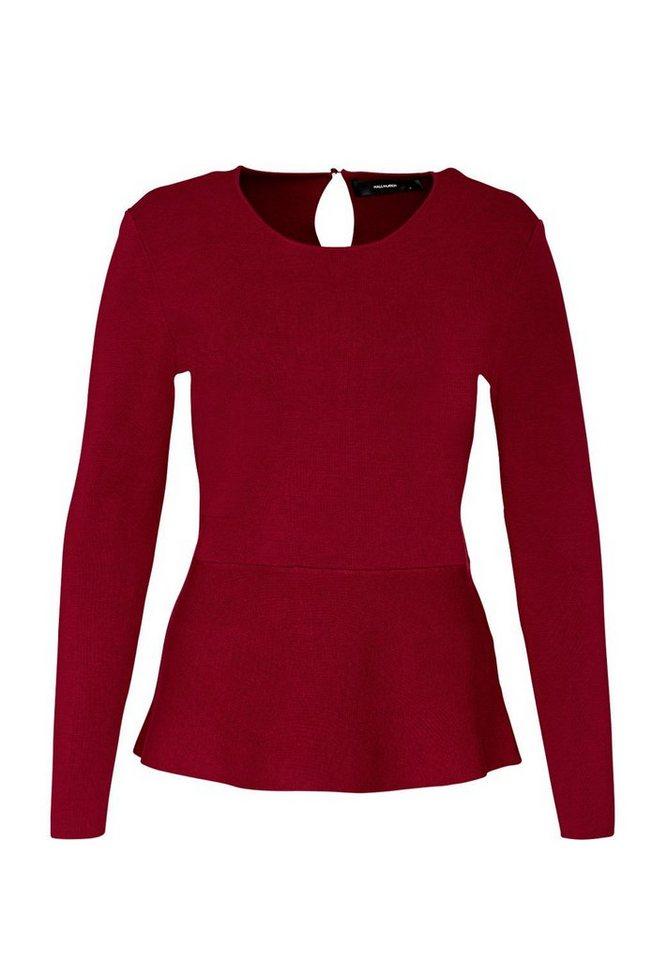 HALLHUBER Peplum-Pullover in rot