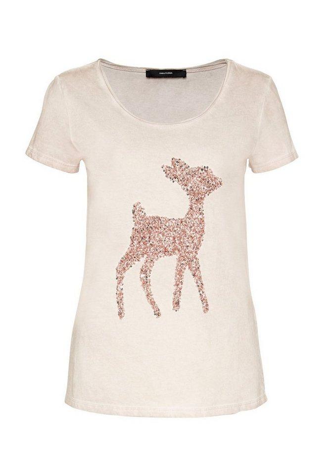 HALLHUBER Bambi T-Shirt in Cold-Dye Optik in puder