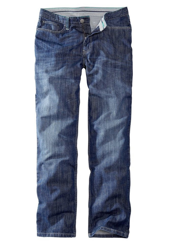 Eddie Bauer Straight Leg Jeans in Deep Blue
